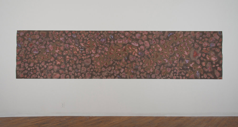 "Stone Shadows, camera-less (lumen) print on photographic paper, 42"" x 180"""