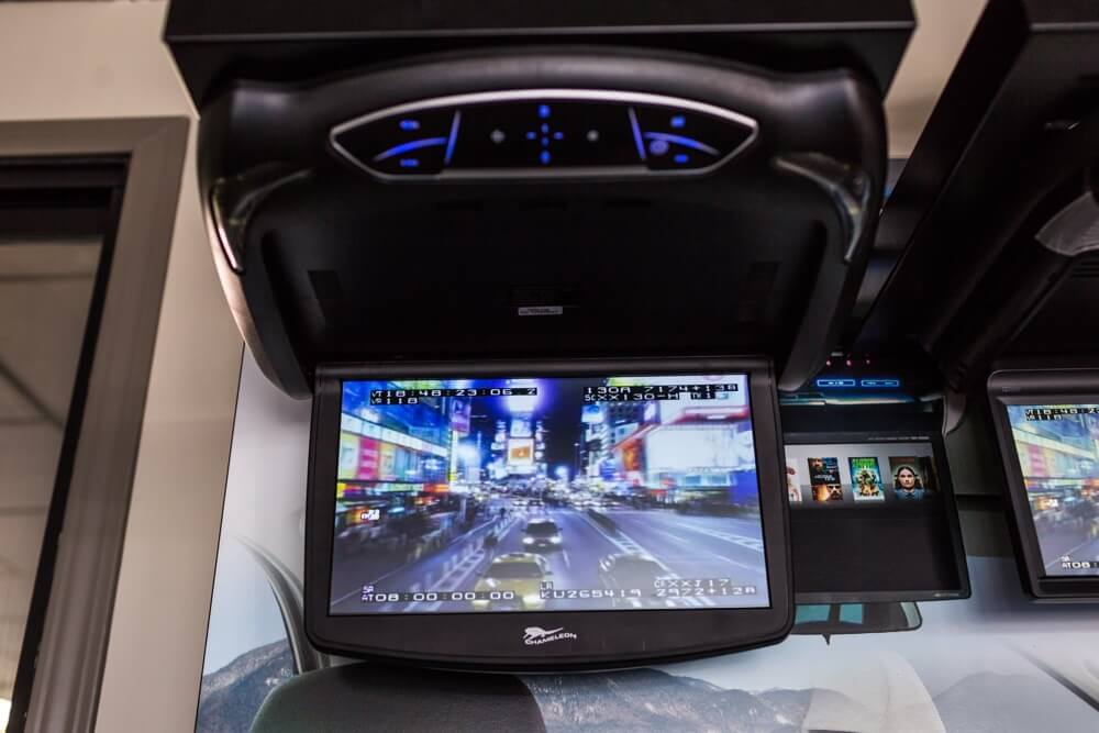 Get a flipdown car DVD player installed at San Diego Car Stereo.