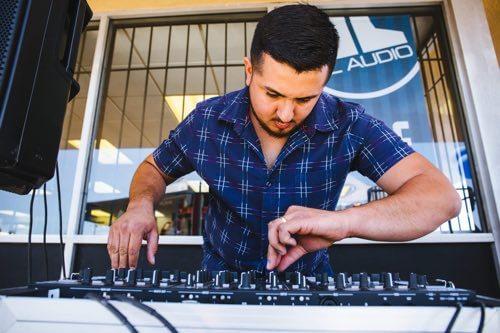 DJ at San Diego Car Stereo Grand Opening
