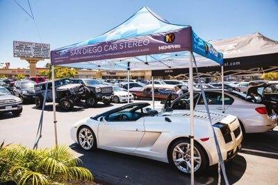 New rims at San Diego Car Stereo in California
