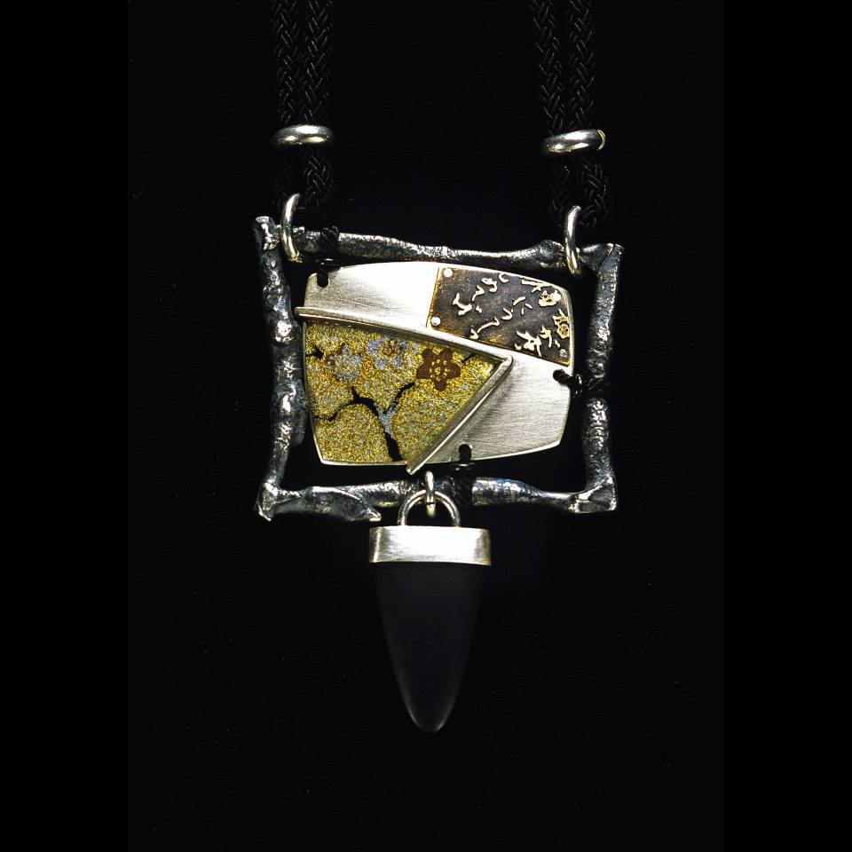 Waka(Japanese old poem) Pendant 1996