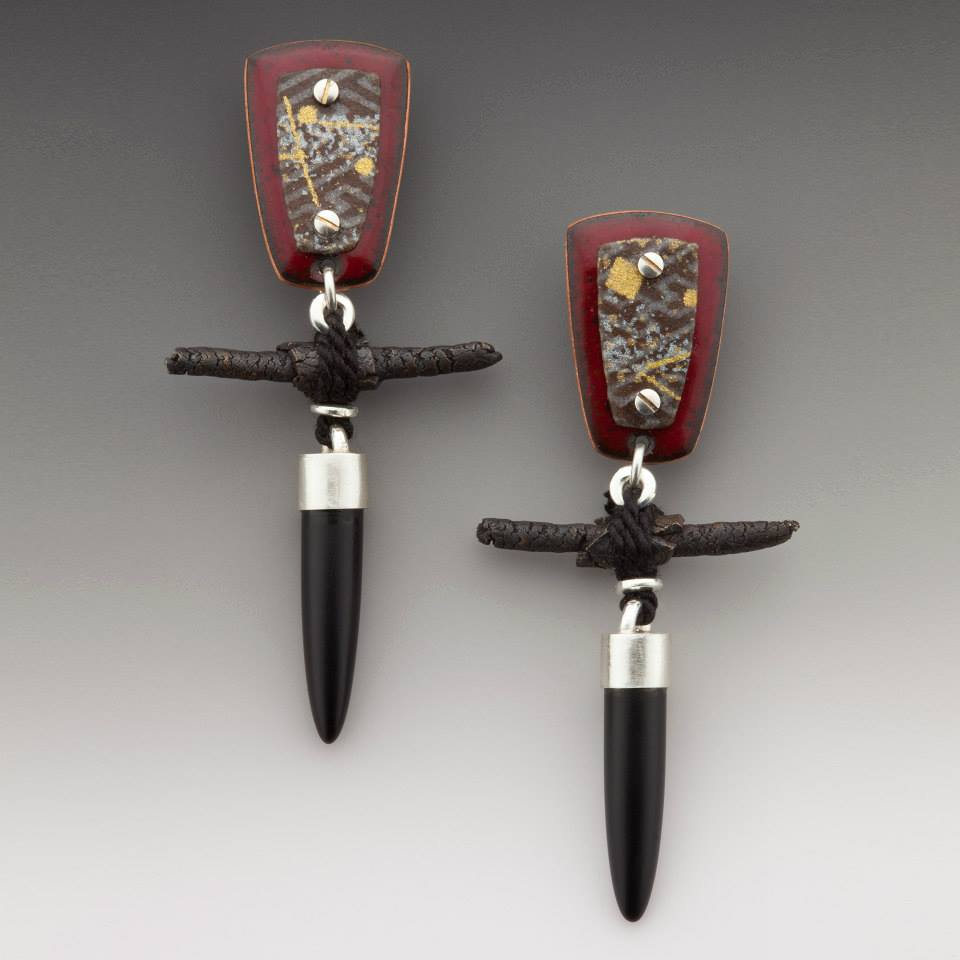 Enamel & Washi earrings 2006