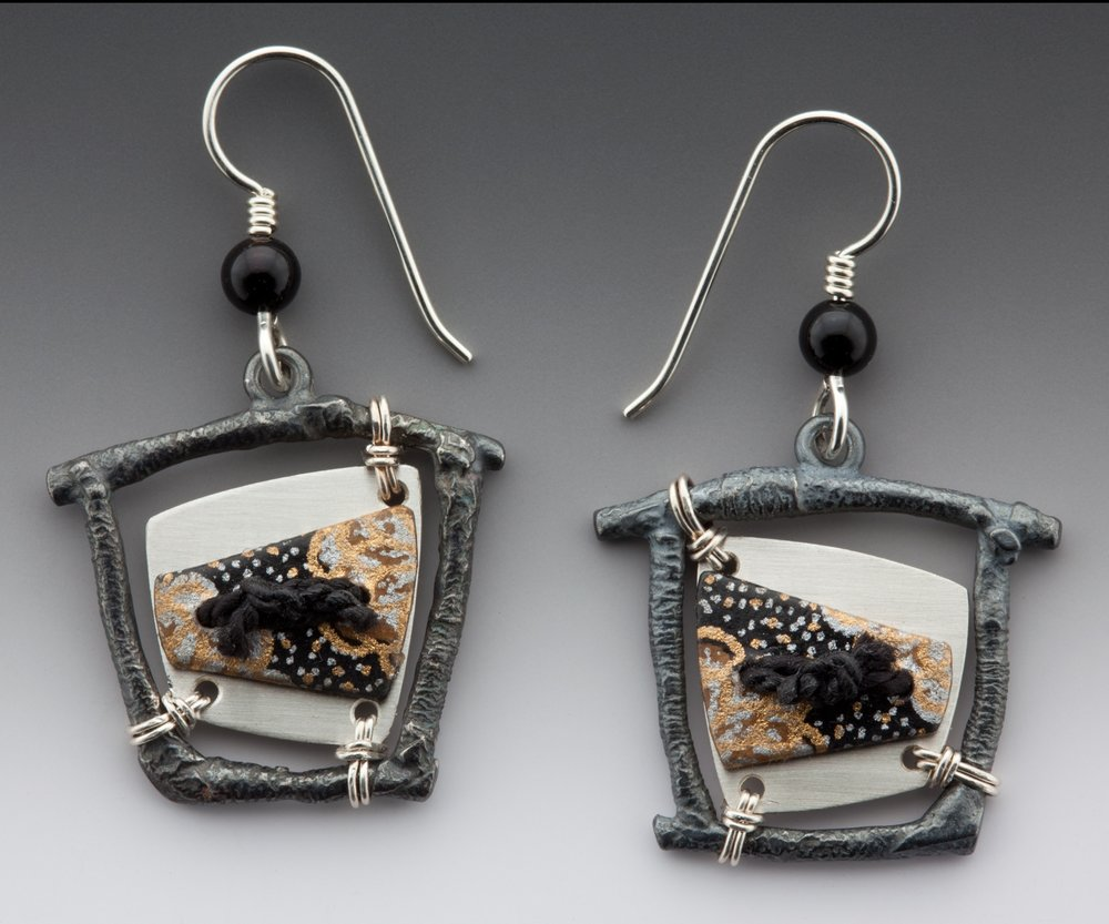 Bird cage earrings 1996