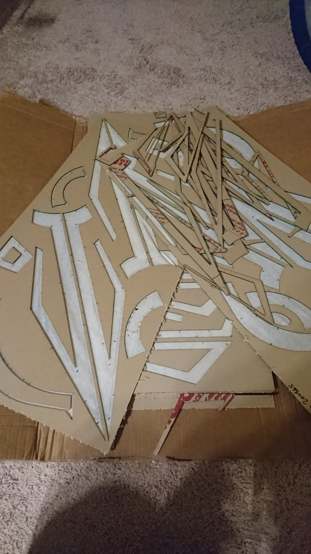 PVC Foam cutouts and decals for Enlightened Eye