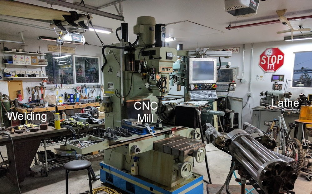 Fully equipped machine shop and fabrication l