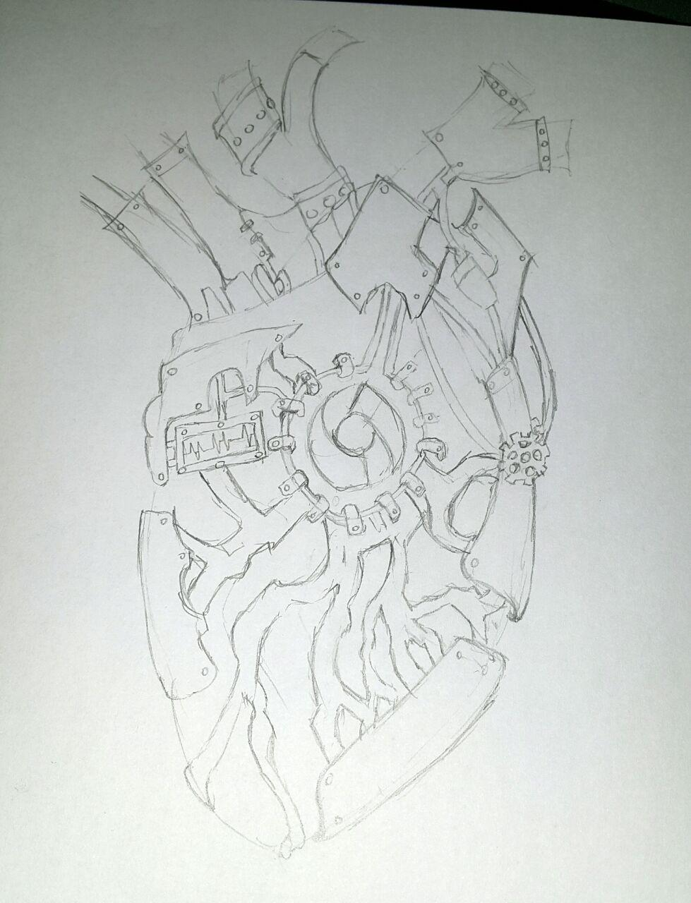 Final Sketch - Back of heart