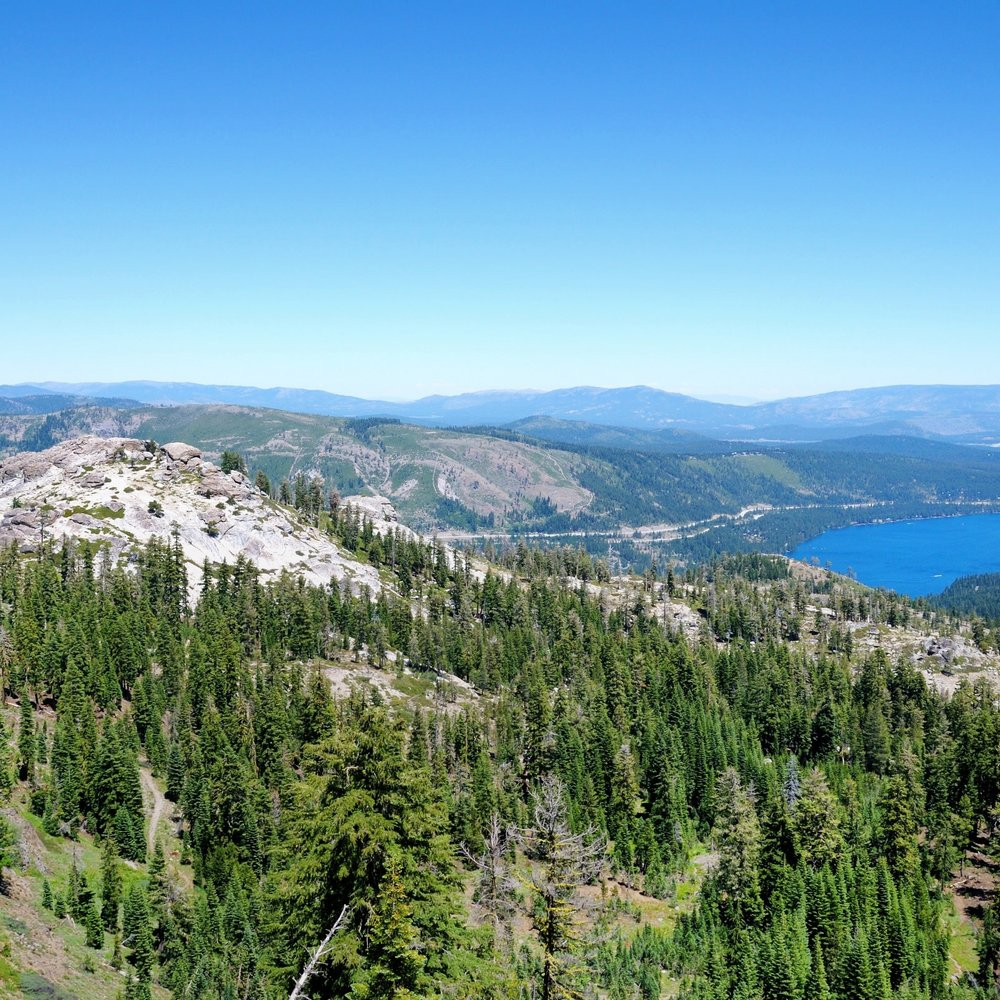 1 - Judah Loop is the best hiking trail on Donner Summit—4.5 miles with 1000' elevation gain.