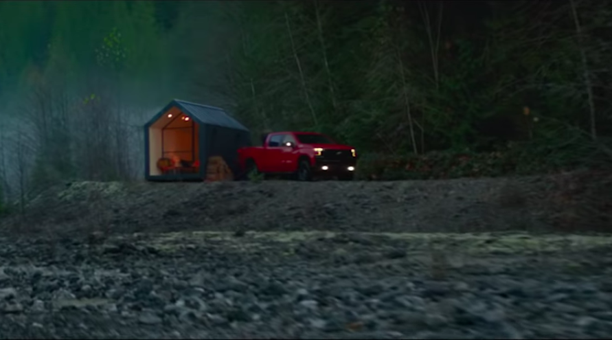 A screen shot for our nationwide commercial, that also has a Chevy Silverado in it.
