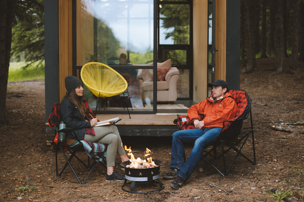 Glamping or camping? You decide.