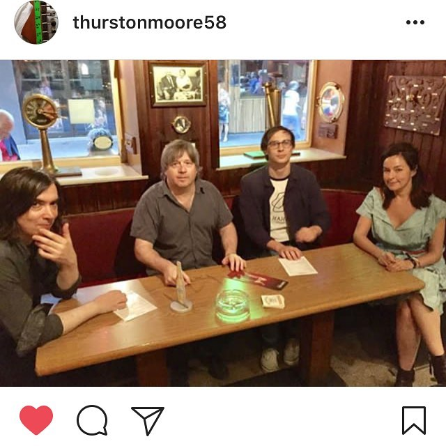 With the Thurston Moore Group, in Hamburg, where the Beatles had a drink once.