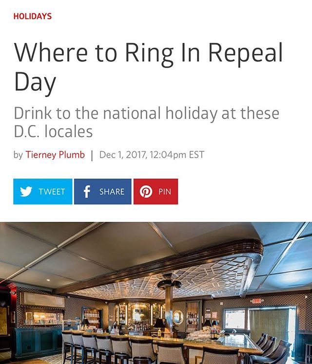 Thanks to @tiers2you & @eater_dc for mentioning us as one of the best places to enjoy the happiest day of the year(and how we have jobs😜😜😜)! Join us this evening for all of the fun! #gigglewater