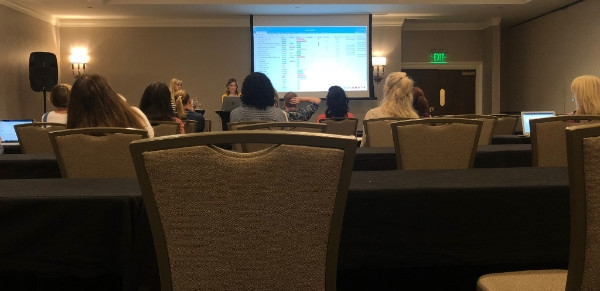 Attending a session that focused on organizing your blog.