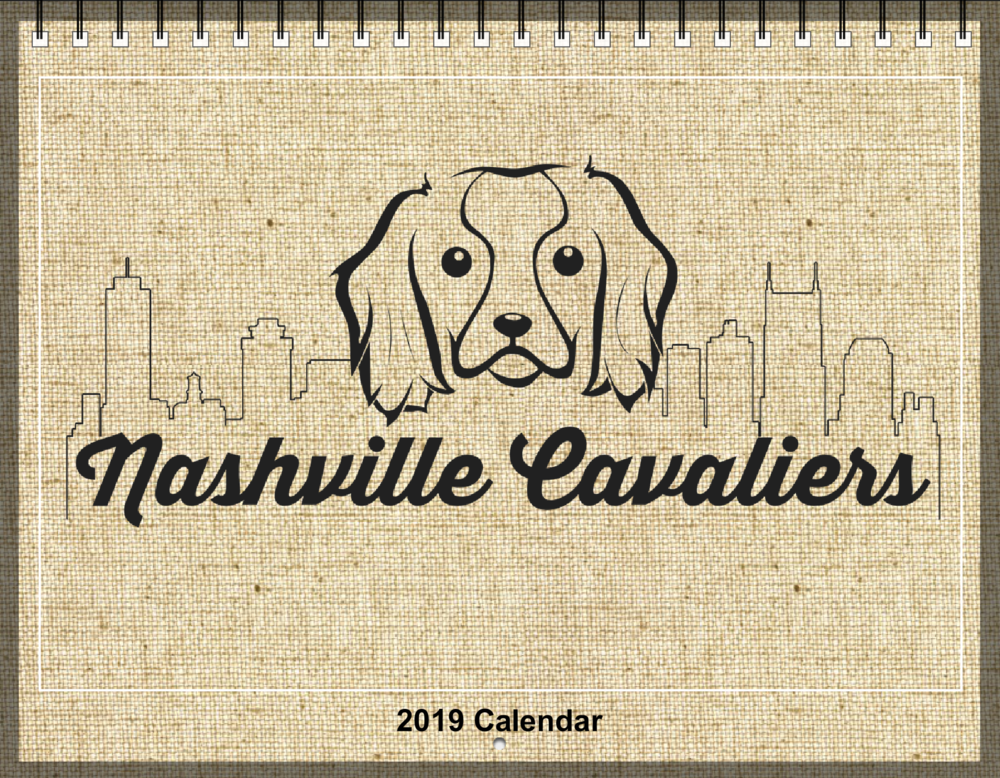**The dark shadowing around the outline of the calendar will not be there when printed.   Scroll down to see all of our 2019 Calendar.