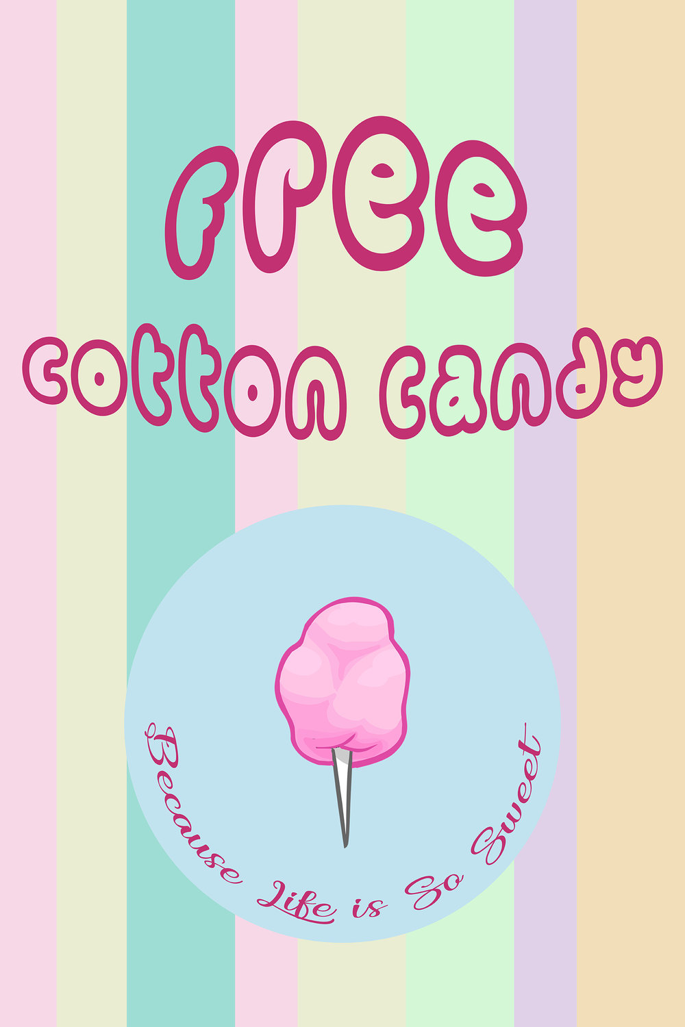 Spin, Roll & Enjoy  We have a cotton candy machine at Stoneham location! Please enjoy free cotton candy after your delicious meal :)  -