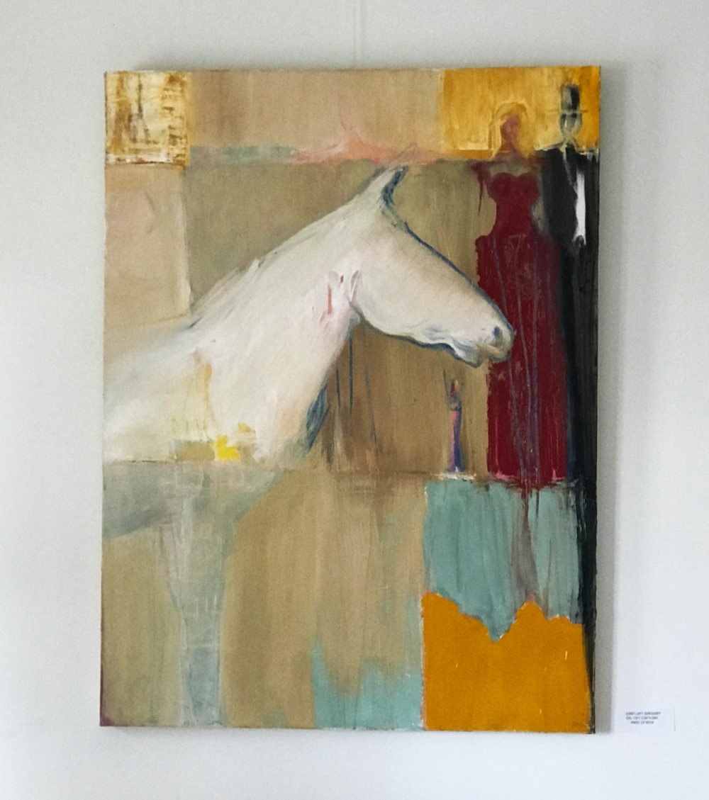 abstract painting of horse