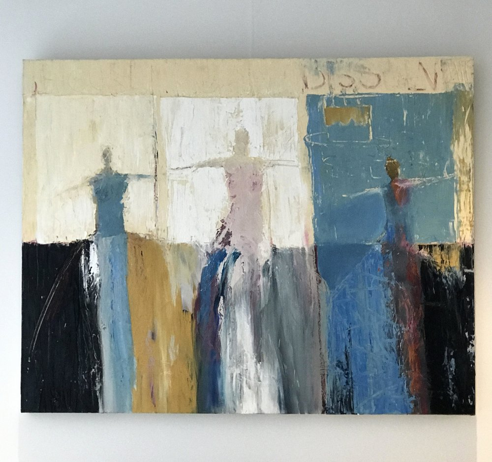 abstract expressionist painting of figures