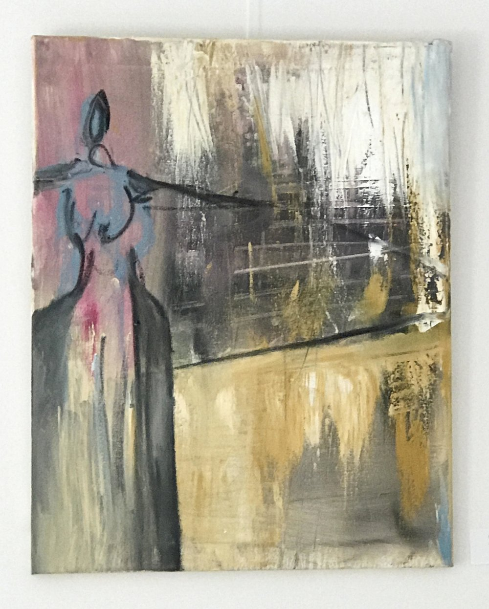 abstract expressionist painting of figure