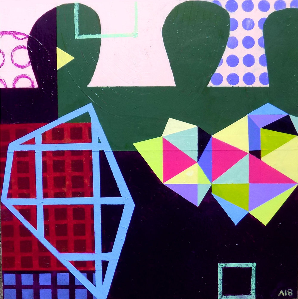 colorful geometirc painting