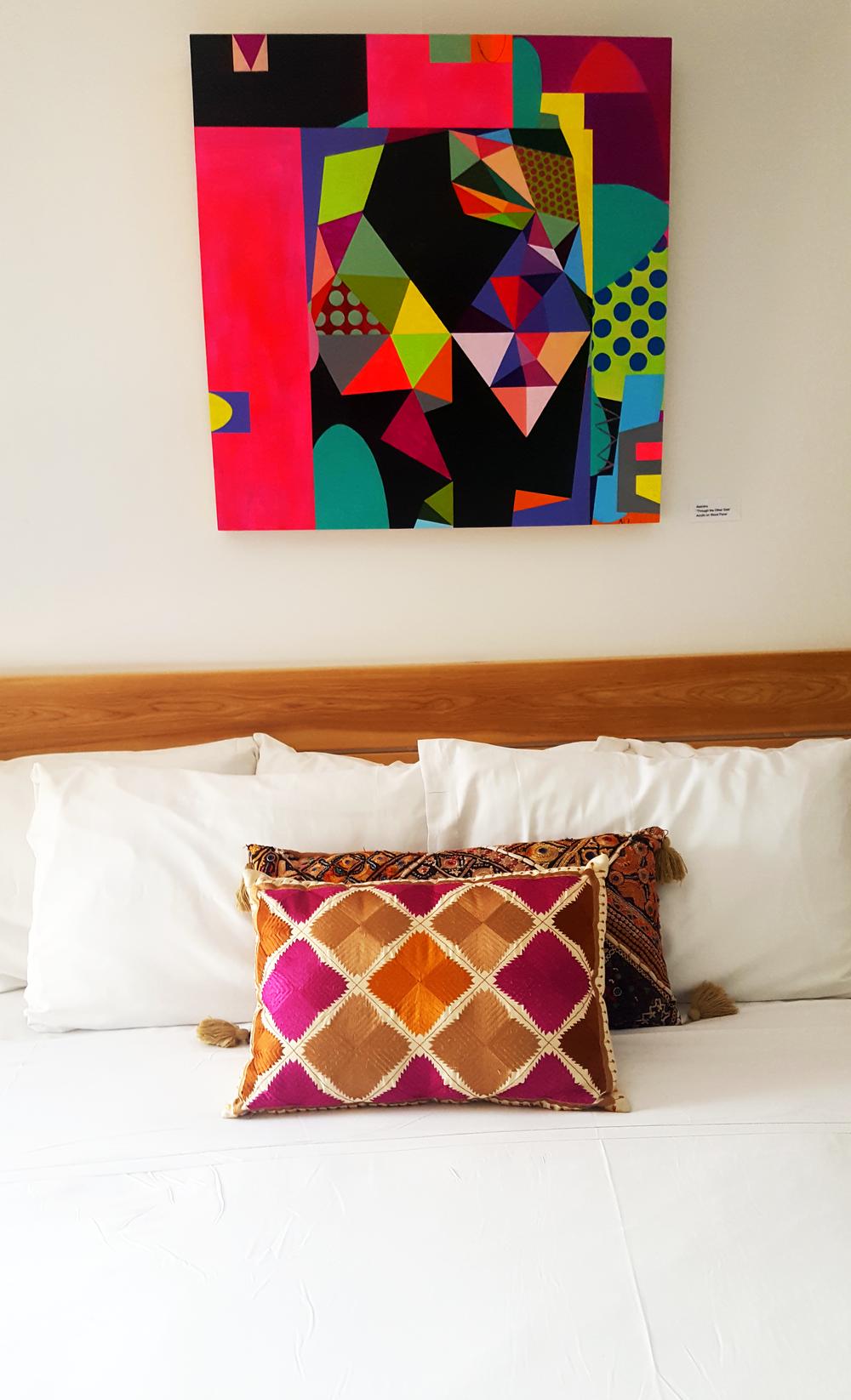 Asandra's geometric painting