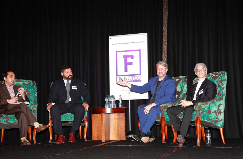 Panel Discussion: Binu Paul, Sebastian Olivera, Peter Dingle, Steve Sereboff (left to right)