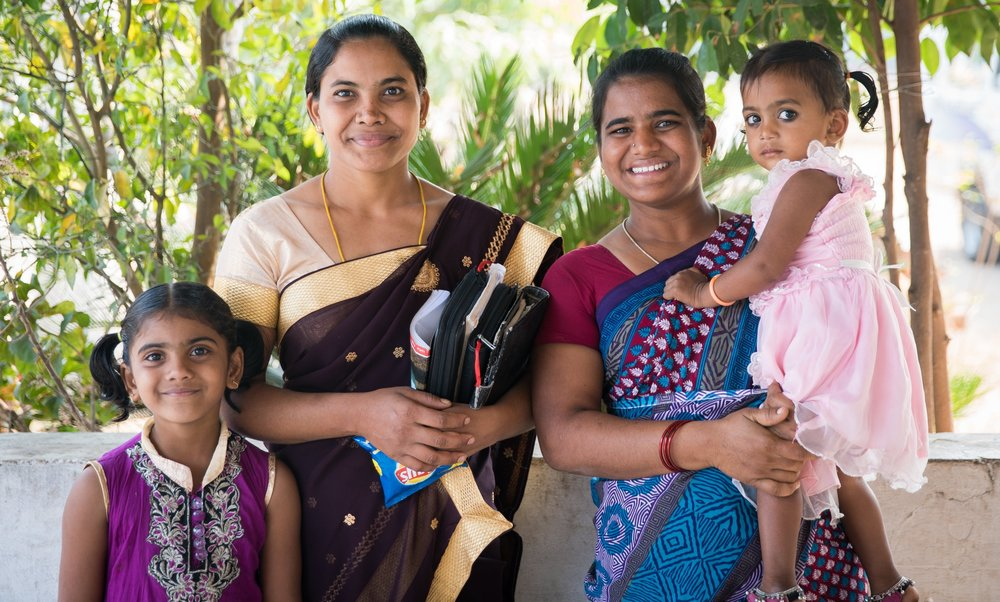 Sisters Anjamma, Swapna and their daughters