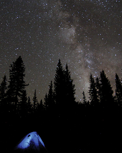Camping under the MIlky Way.