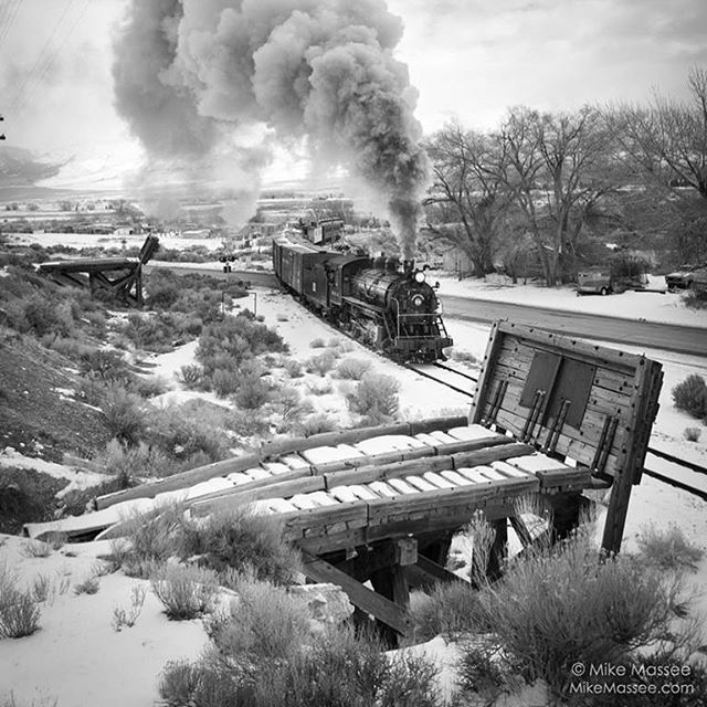 It's #valentines day and we #love this #picoftheday by Mike Massee @ghost_train_of_old_ely #blackandwhite #trains #visitelynevada #getelevated #rideelynv #howtonevada #nevada #dfmi #ridetherails #history #mountainlife #mountaintown #photography @travelnevada @ponyexpressnevada