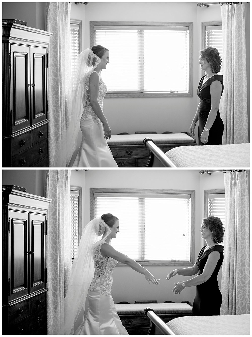Mother Daughter First Look | Minnesota Wedding Photographer | Bethany Melvin Photography