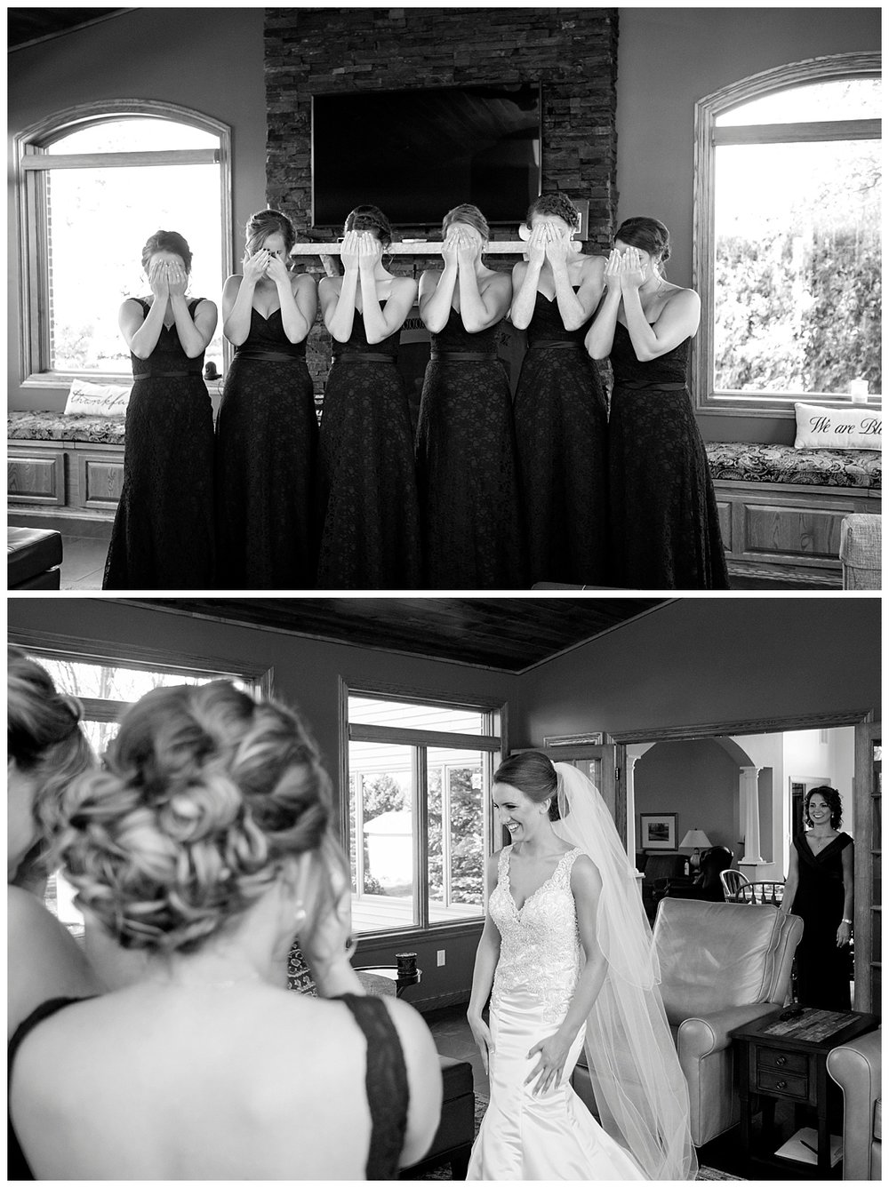 Bridesmaids First Look | Minnesota Wedding Photographer | Bethany Melvin Photography