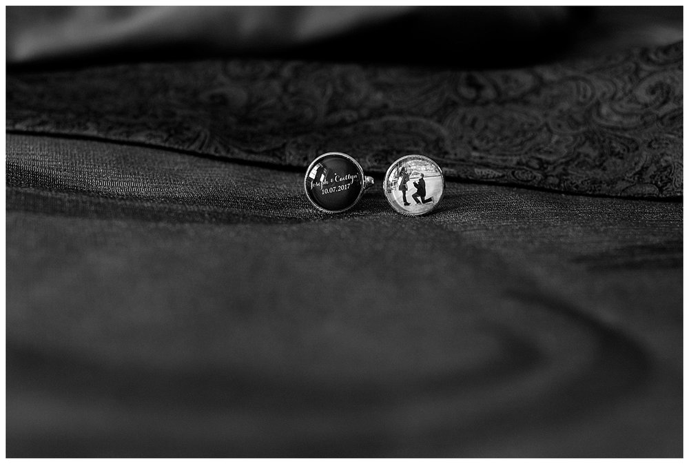 Custom Cufflinks | Minnesota Wedding Photographer | Bethany Melvin Photography