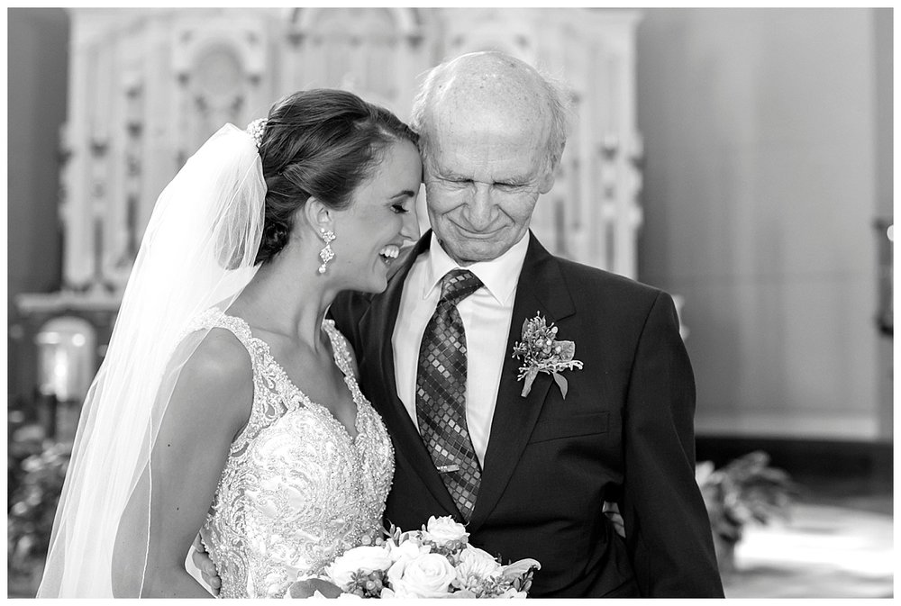 Bride and Grandpa | Holy Redeemer Marshall Minnesota Wedding Photographer | Bethany Melvin Photography