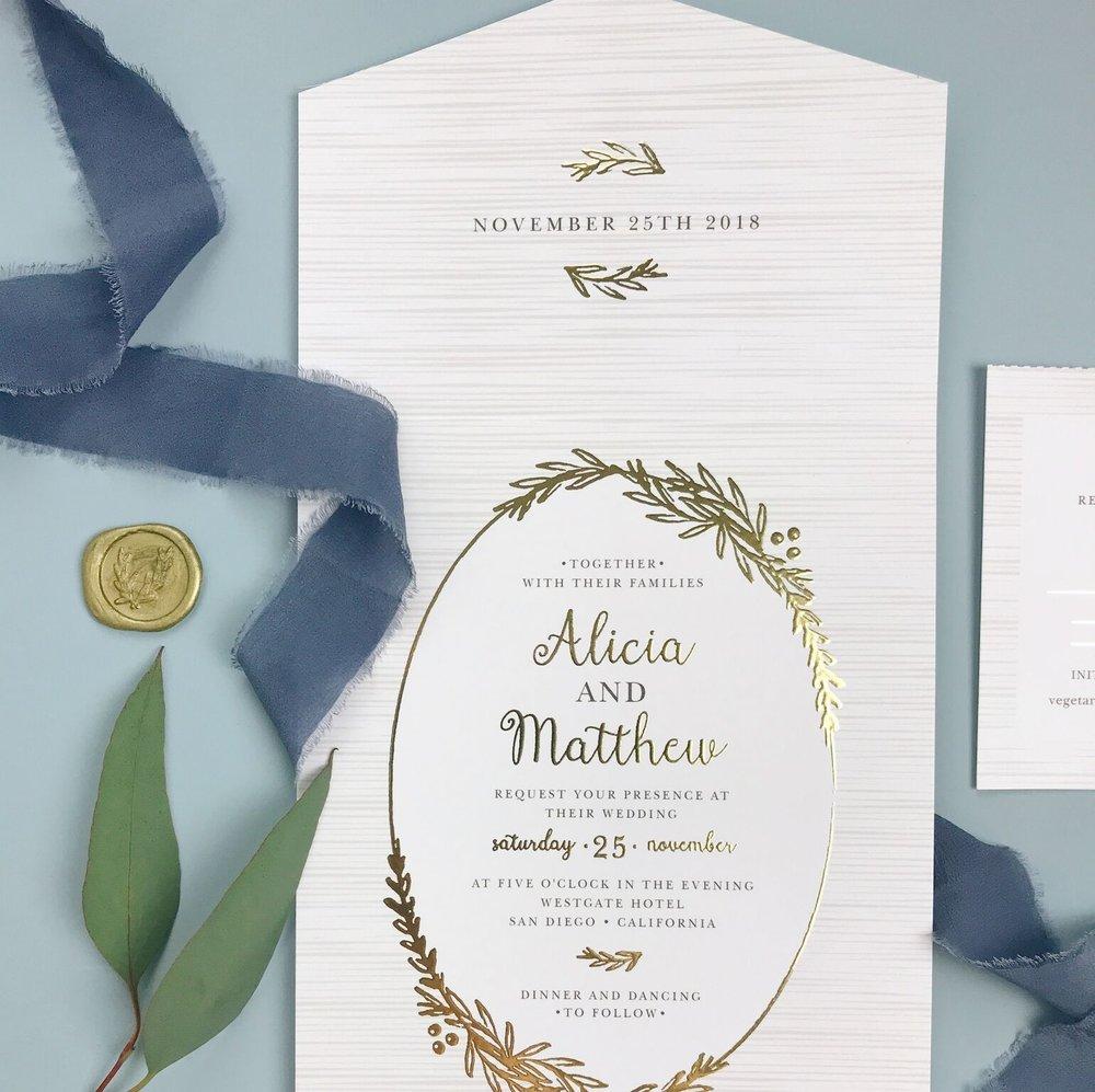 wedding stationery from basic invite bethany melvin photography