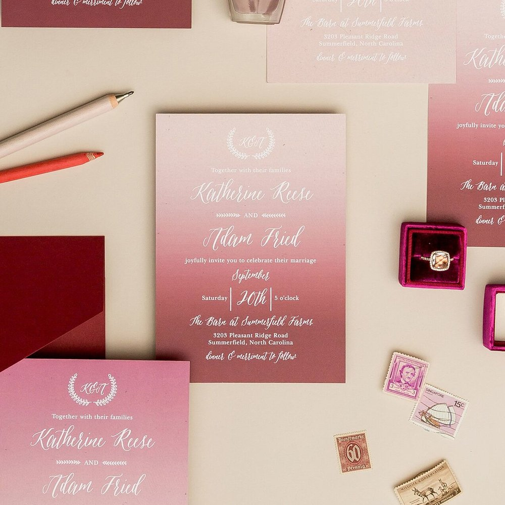 Wedding Stationery from Basic Invite! — Bethany Melvin Photography
