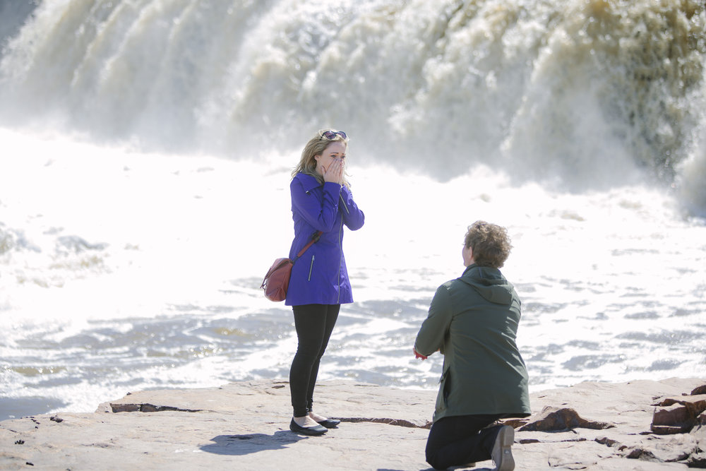 Where to Propose in Sioux Falls, SD Falls Park