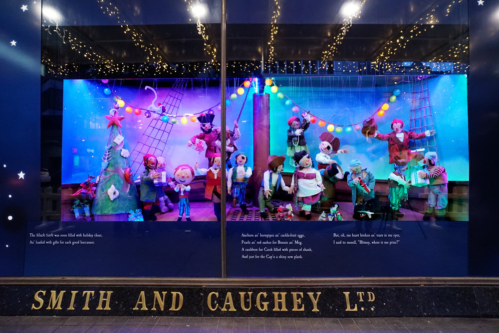 Smith and Caughey's 2017 windows: A Pirates Night Before Christmas