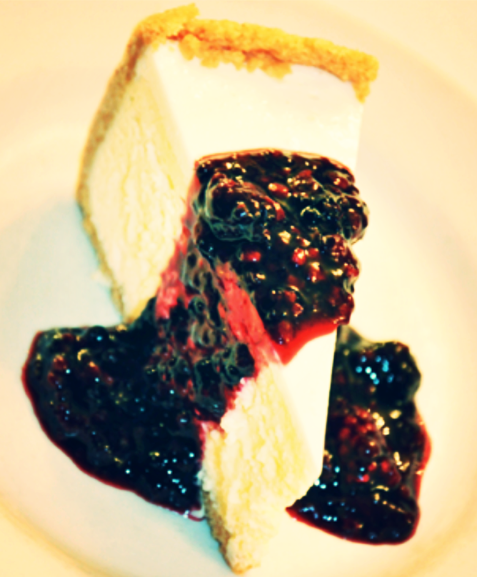 Cheesecake with Marionberry Compote