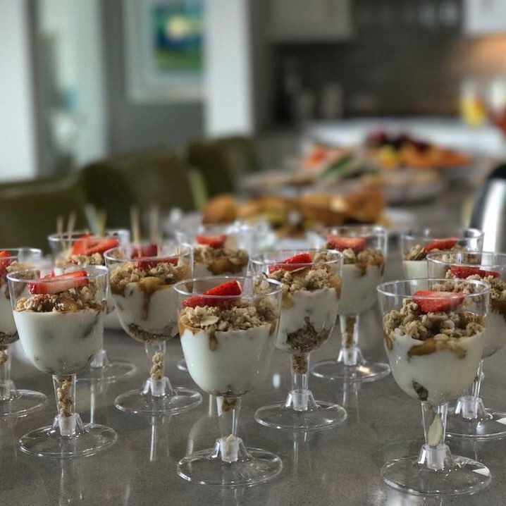 GRANOLA + BERRY PARFAITS