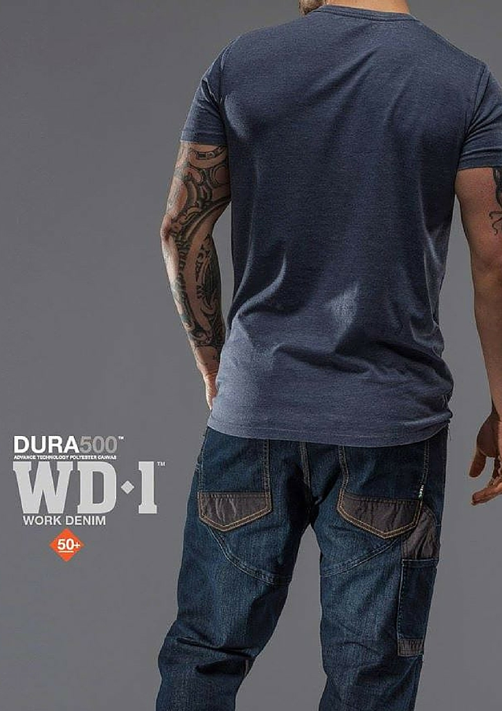 FXD WD-1 Work Denim Pant   Features:  -FX01336001 - With Kneepad -Sits On The Waist, Tapered From The Knee -Cone Denim S-Gene -Superior Stretch -DURA500 Reinforced Pockets -Reinforced Heels -Double Layer Internal Pocket Bags -DURA500 Knee Pad Pockets -Multiple Utility Pockets -YKK Metal Zip Fly -Stress Points Bar-Tacks -Triple Needle Stitching