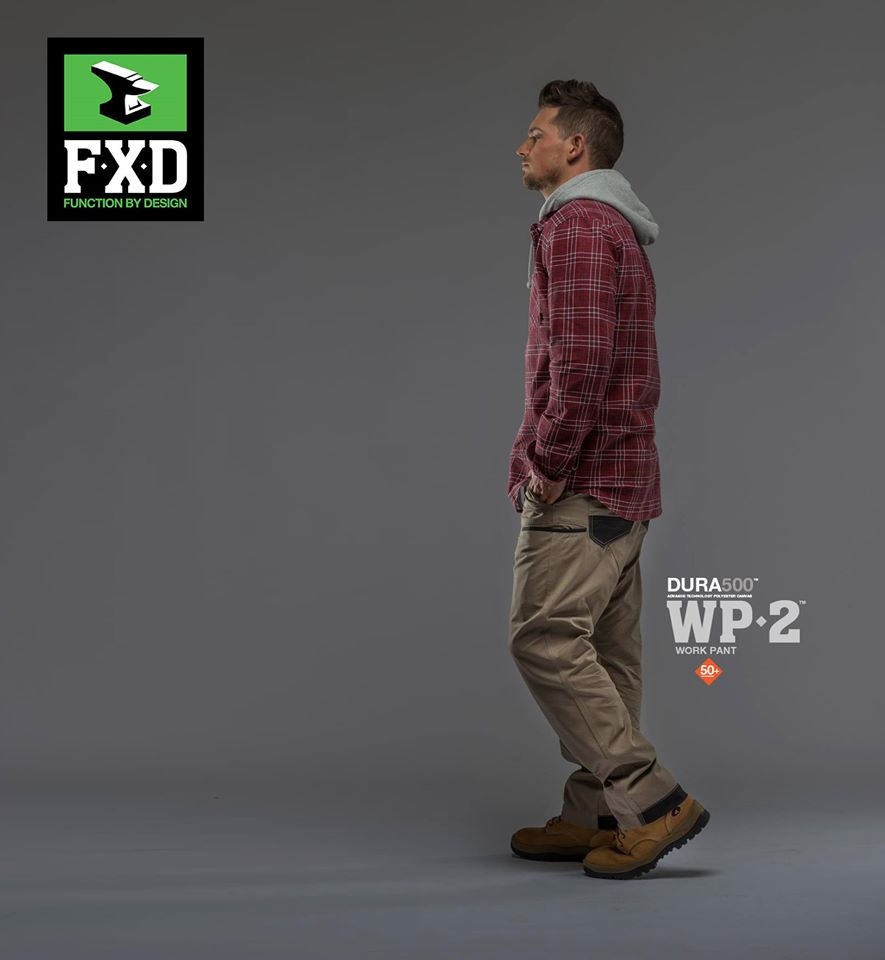 FXD WP-2 Work Pant   Features:  - FX01536001. REGULAR FIT - SITS ON THE WAIST TAPERED FROM THE KNEE - 8.2OZ/280GSM PRE SHRUNK 100% COTTON - DURA500™ REINFORCED POCKETS - STRETCH BACK YOKE - REINFORCED HEELS - DOUBLE LAYER INTERNAL POCKET BAGS - UTILITY POCKET - YKK NYLON ZIP FLY - STRESS POINTS BAR-TACKS - TRIPLE NEEDLE STITCHING