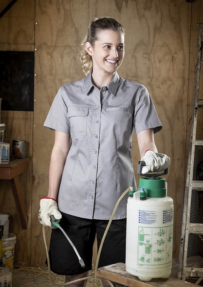 Ladies Lightweight Tradie Short Sleeve Shirt - main.jpg