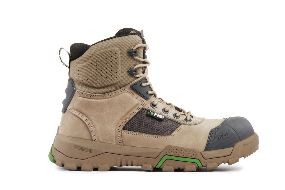 FXD WB-1 Work boots (Stone side view)