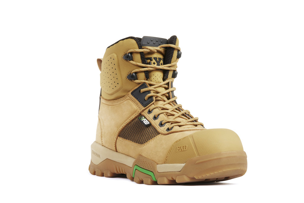 FXD WB-1 work boots (Wheat front view)