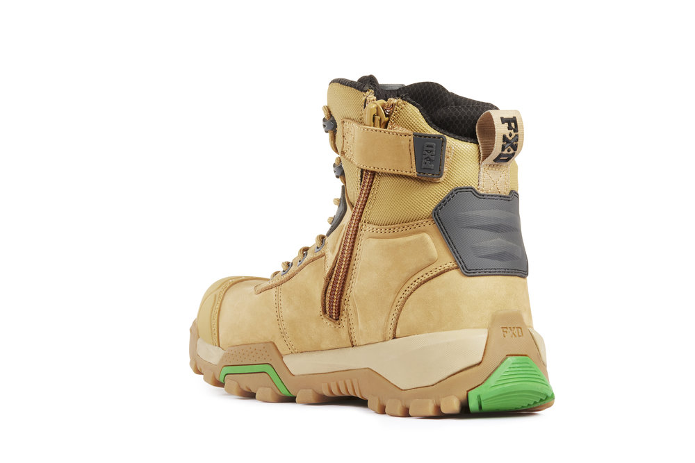 FXD WB-1 work boots (Wheat rear view)