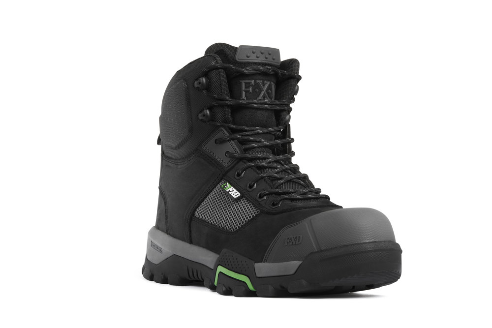 FXD WB-1 work boots (Black front view)