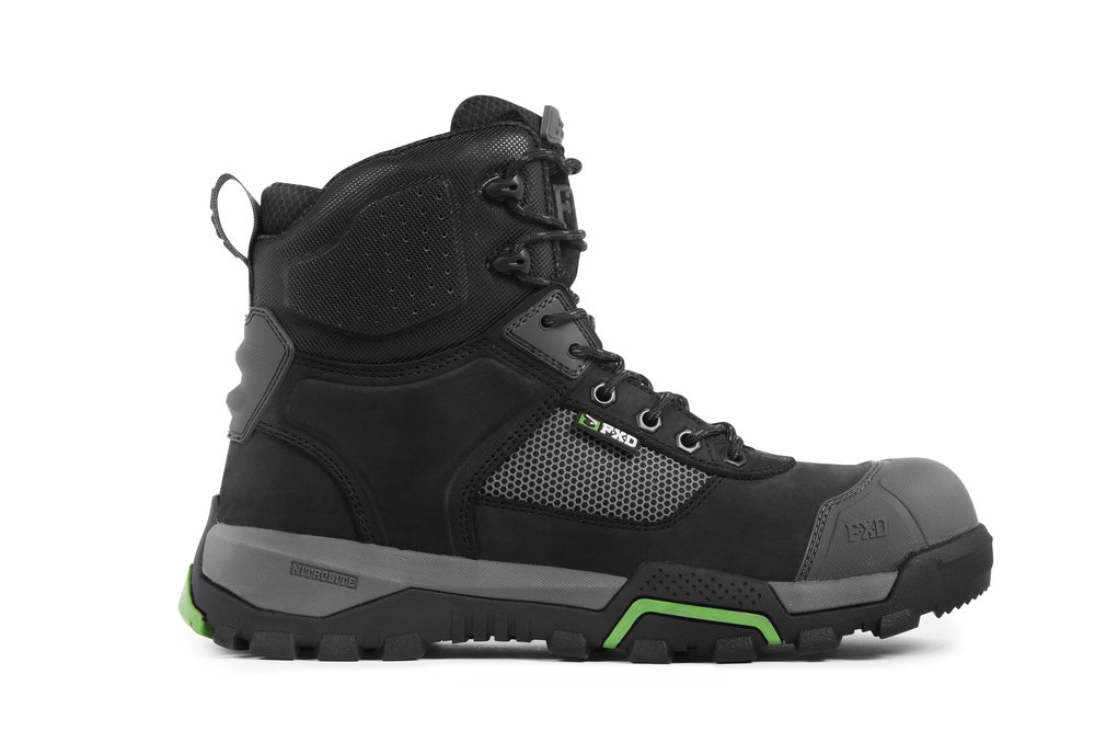 FXD WB-1 work boots (Black side view)