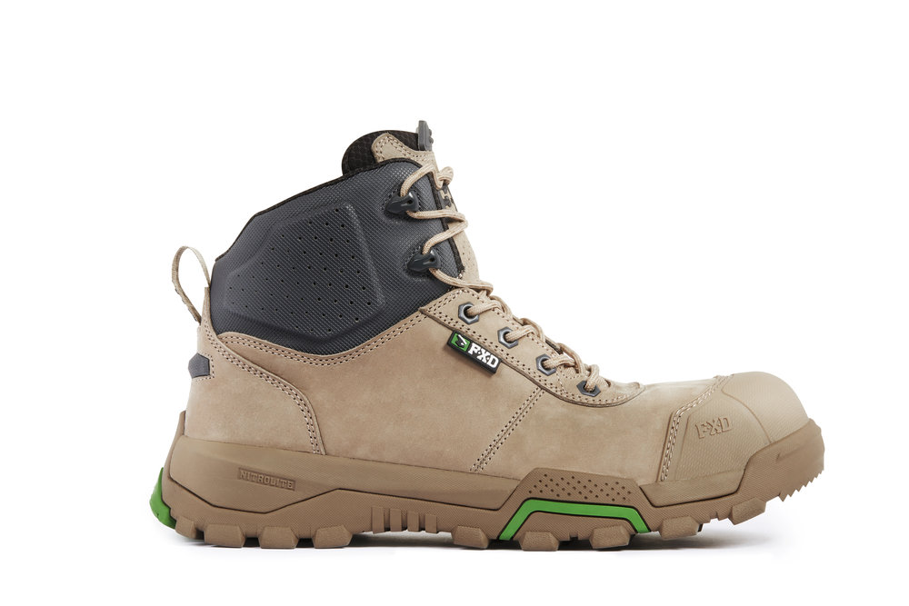 FXD WB-2 work boots (Stone side view)