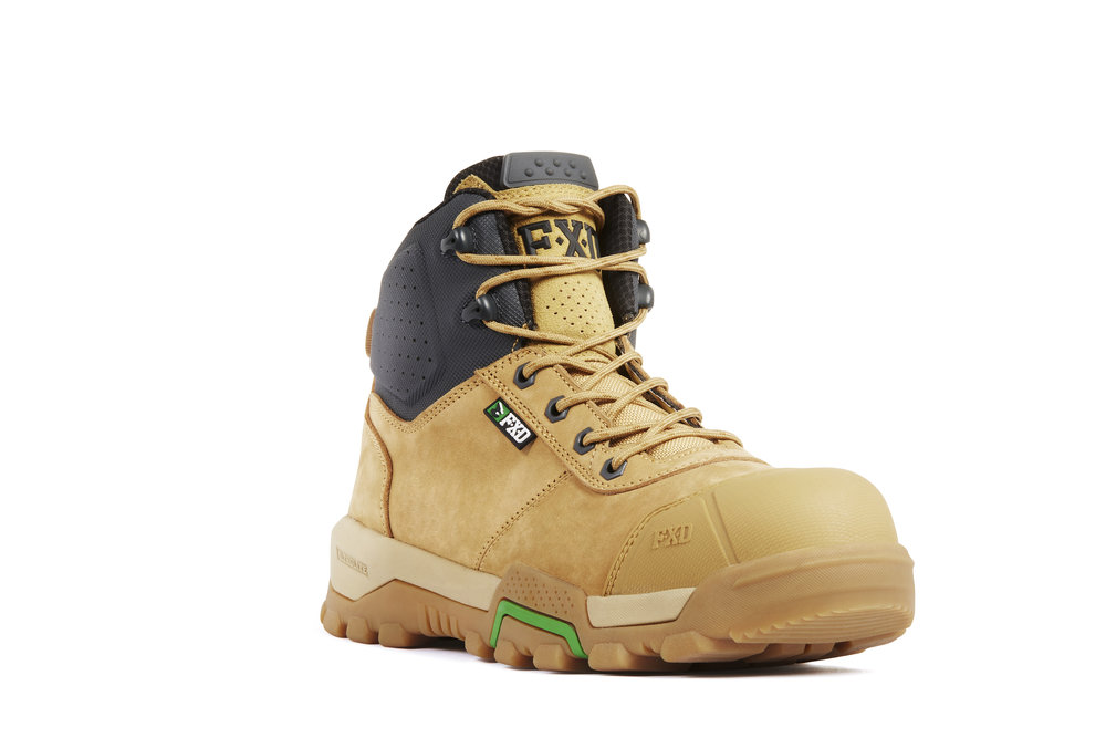 FXD WB-2 work boots (Wheat front view)