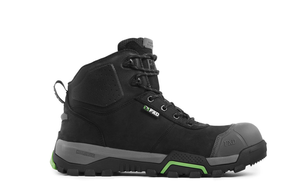 FXD WB-2 work boots (Black side view)