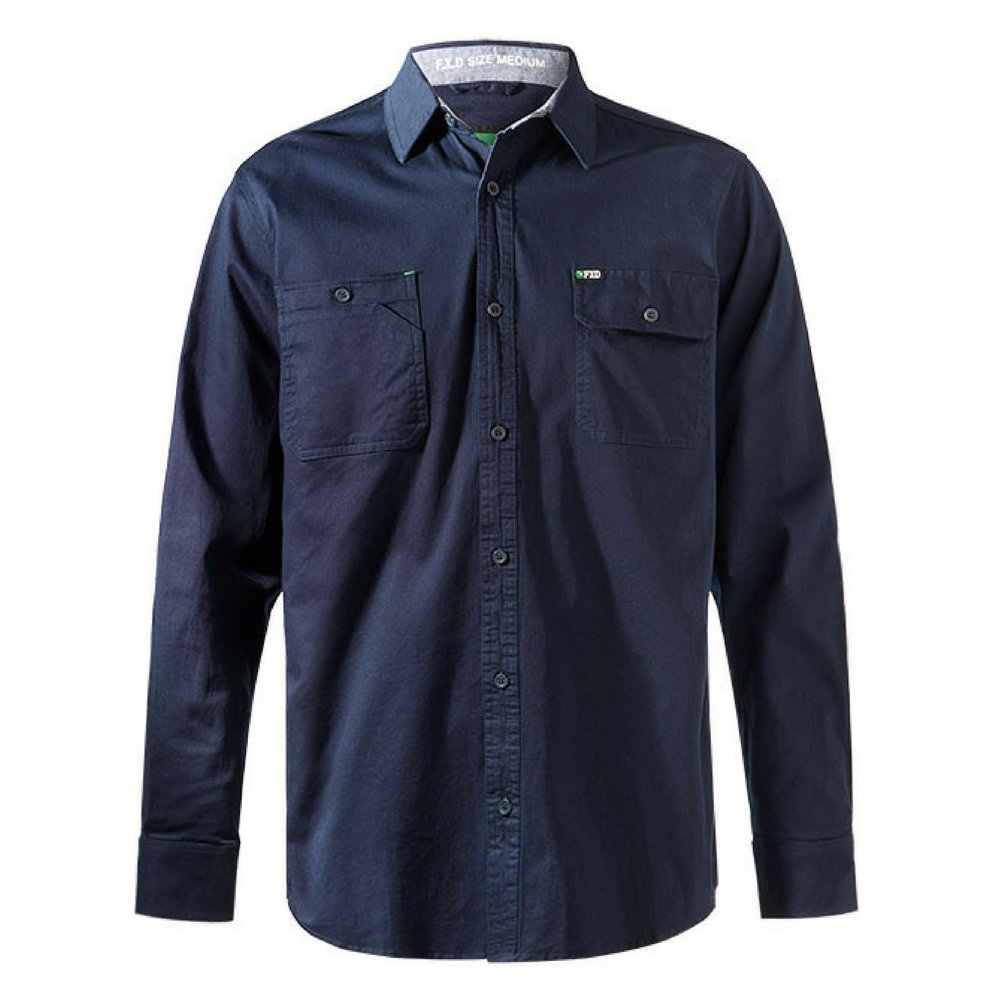 FXD Workwear LSH-1 long sleeve 360 stretch work shirt navy