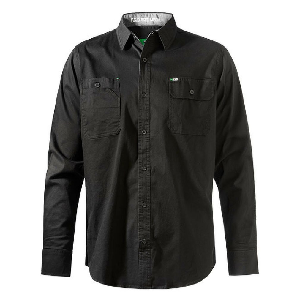 FXD Workwear LSH-1 long sleeve 360 stretch work shirt black